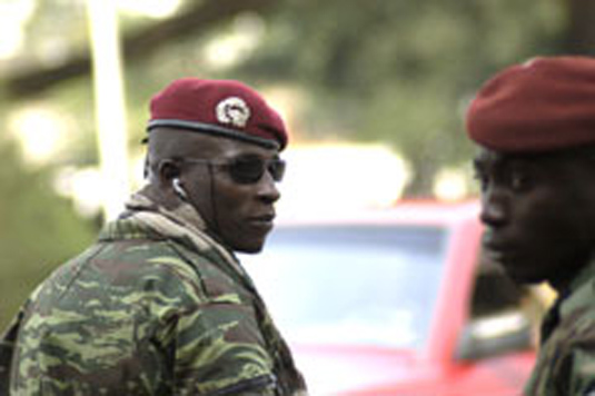 """Cherif Ousmane (""""Guepard"""") of Forces nouvelles (former rebels), military commander of the region around the central town of Bouaké, Ivory Coast"""