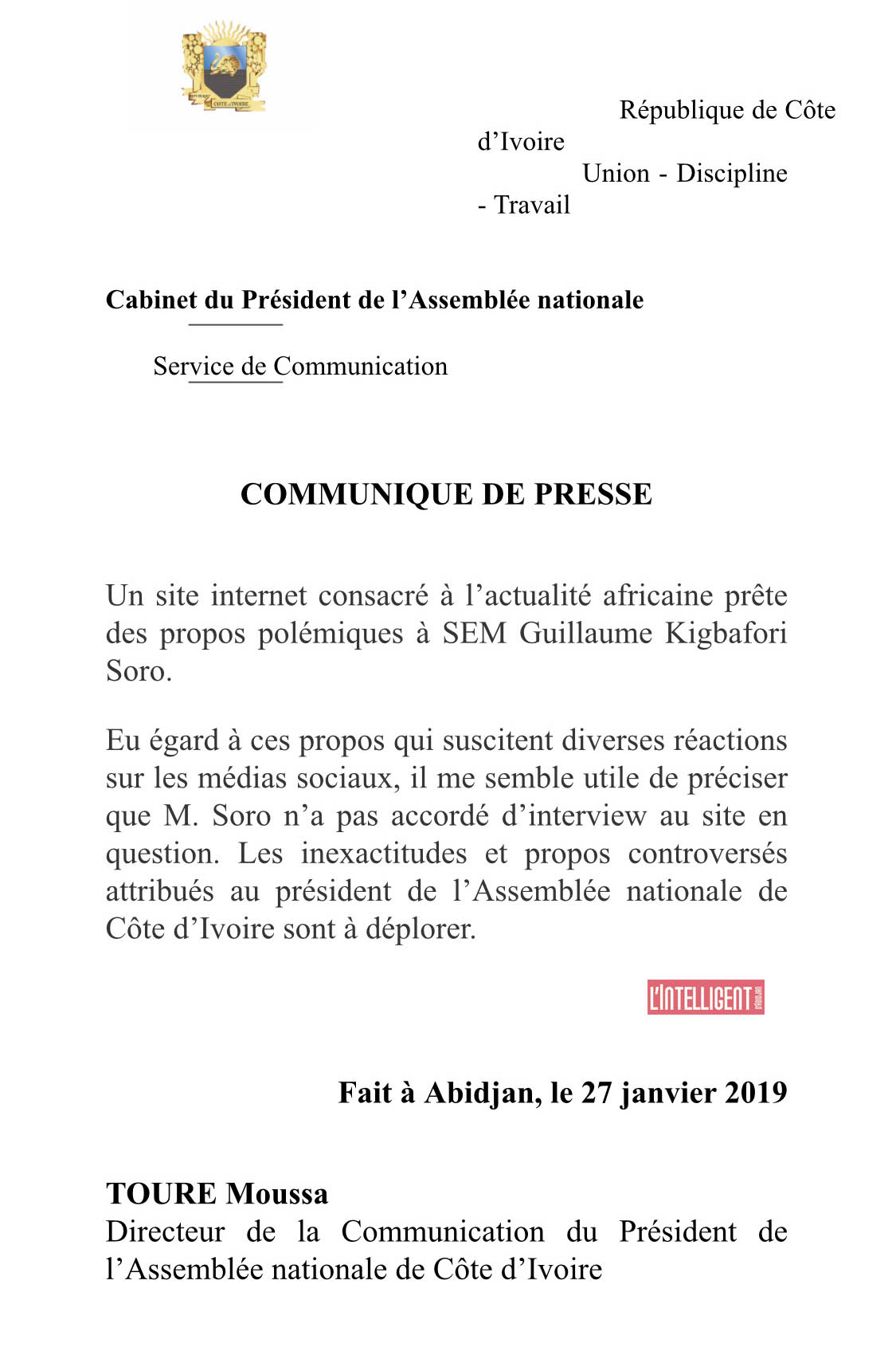 demnti - assemblee nationale