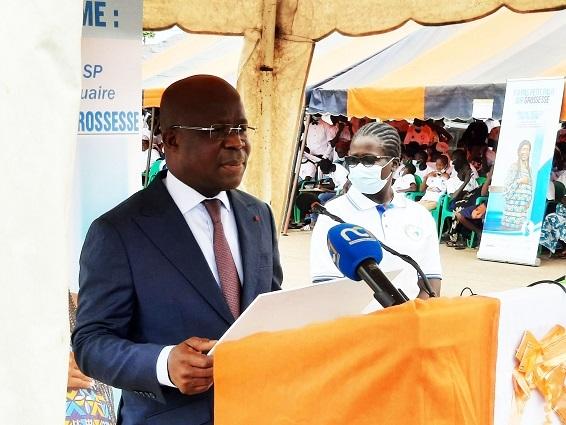 Le Ministre de la santé, de l'hygiène publique et de la couverture de la maladie universelle, Dimba N'gou Pierre