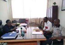 Tuo Tchangadjouman dit Tuo Tchang, promoteur du site d'informations en ligne imagedafrique.net a animé un point de presse le 27 avril 2021 à Bouaké