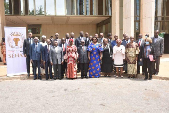 Dans le cadre des séances d'information parlementaire, Hauhouot Asseypo Antoine, président de l'Académie des Sciences, des arts, des cultures d'Afrique et des diasporas Africaines (Ascad)