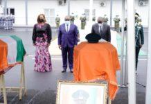 La Côte d'Ivoire rend hommage aux soldats tombésLe jeudi 24 juin 2021, à la Place d'armes de l'État major général des armées d'Abidjan-Plateau un hommage national